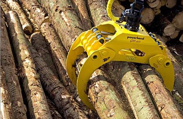 Timber grab attachment hire